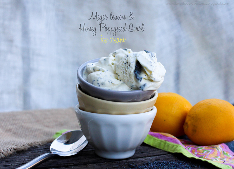 Loves Food, Loves to Eat: Meyer Lemon &amp; Honey Poppy Seed Swirl Ice Cream
