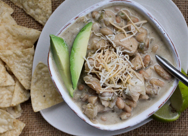 Creamy White Chicken Chili // Loves Food, Loves to Eat