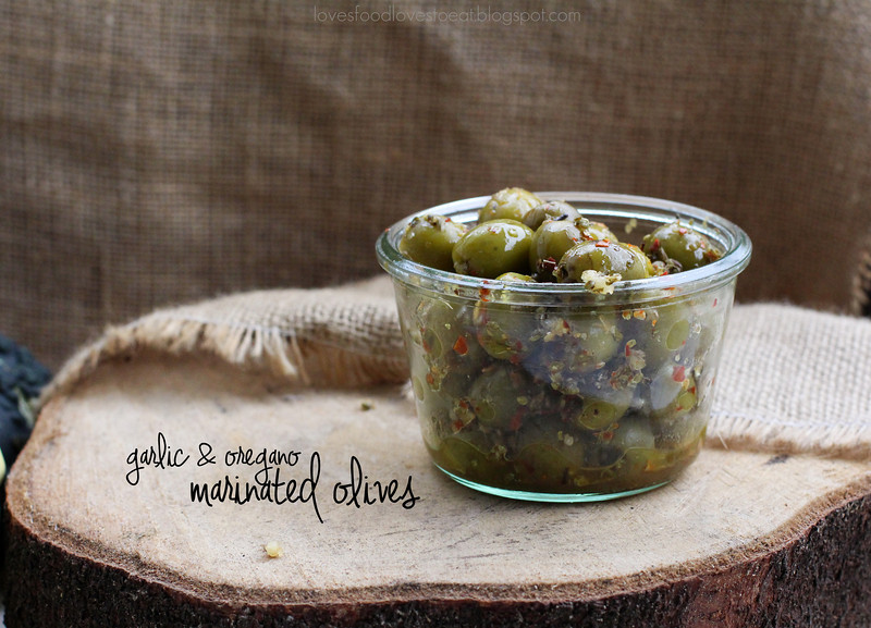 Papa's Marinated Green Olives// Loves Food, Loves to Eat