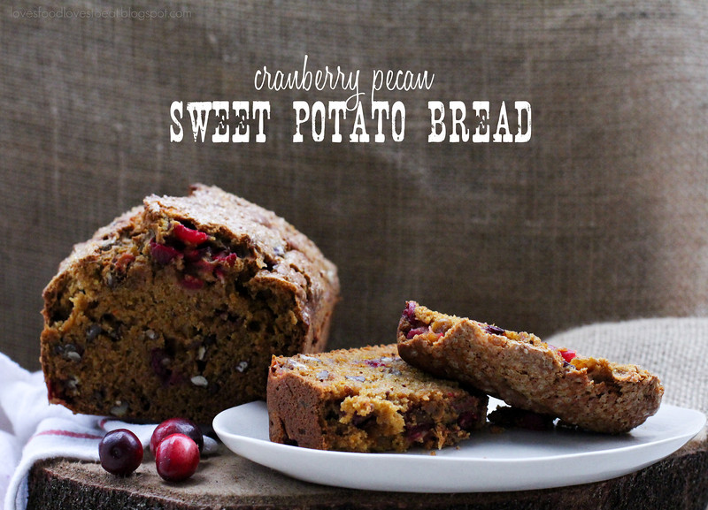 Cranberry Pecan Sweet Potato Quick Bread// Loves Food, Loves to Eat