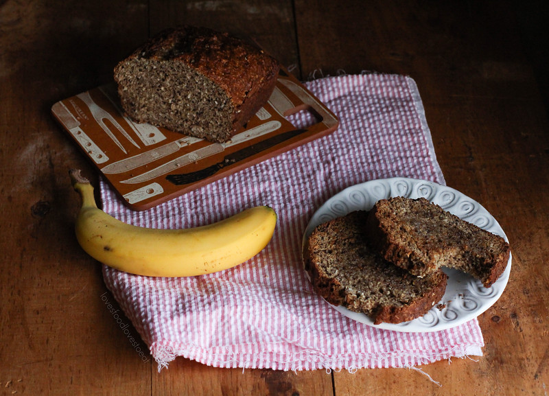 Coconut & Ground Hazelnut Banana Bread// Loves Food Loves to Eat