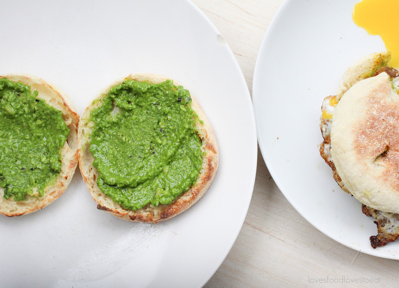 Sausage & Pesto Fried Egg Sandwiches // Loves Food, Loves to Eat