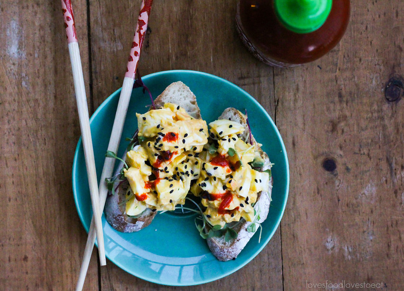 Sesame Sriracha Egg Salad// Loves Food, Loves to Eat