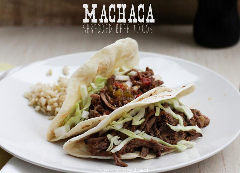 Machaca {Shredded Beef Tacos}// Loves Food, Loves to Eat