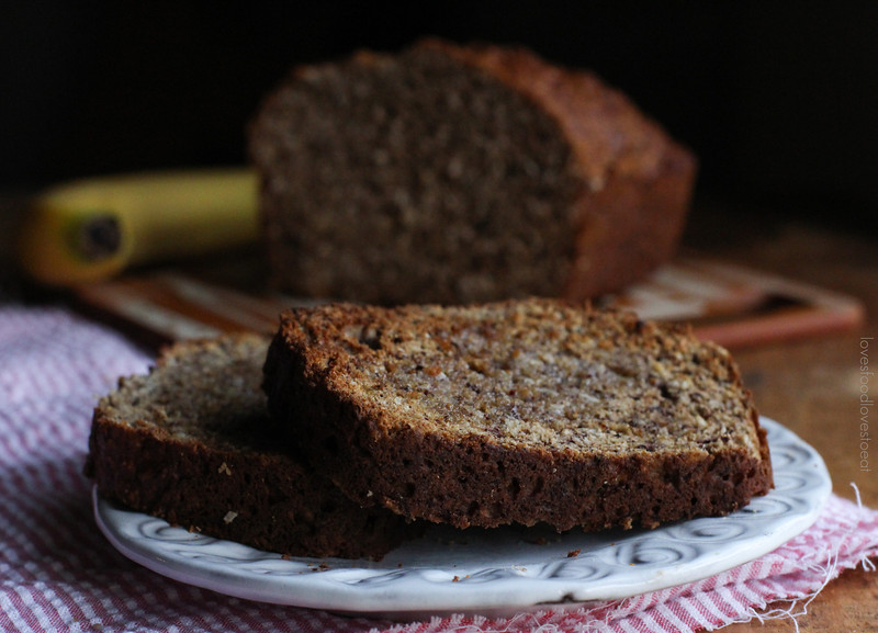 Coconut & Ground Hazelnut Banana Bread