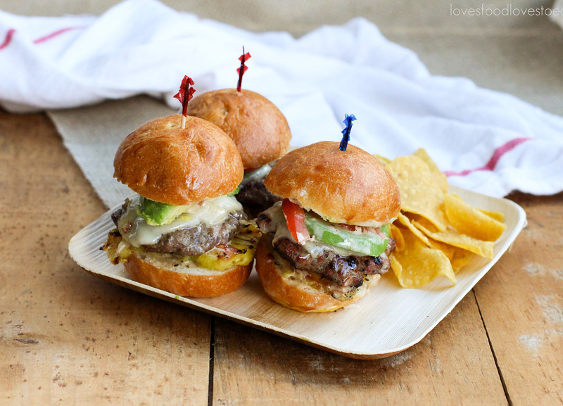 Hawaiian Sliders with Grilled Pineapple & Teriyaki Mayo// Loves Food, Loves to Eat