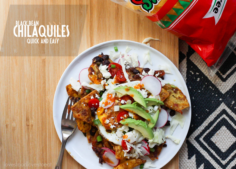 Quick Black Bean Chilaquiles // Loves Food, Loves to Eat