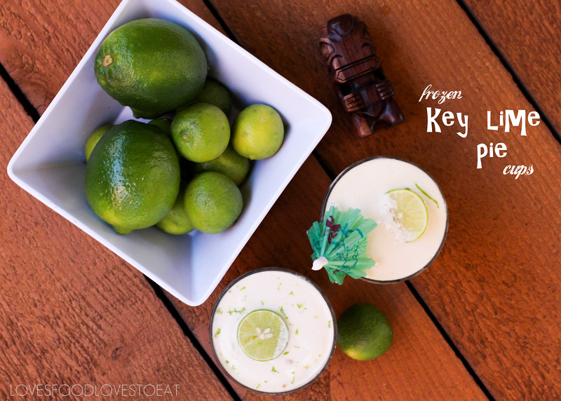 Tiki Week: Frozen Key Lime Pie Cups// Loves Food, Loves to Eat