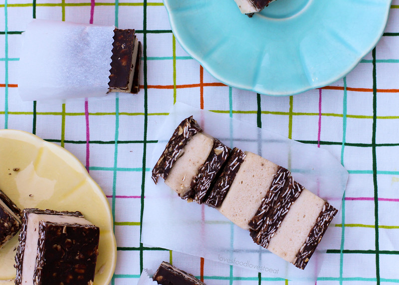 No-bake Chocolate Peanut Butter Banana Ice Cream Sandwiches // Loves Food, Loves to Eat