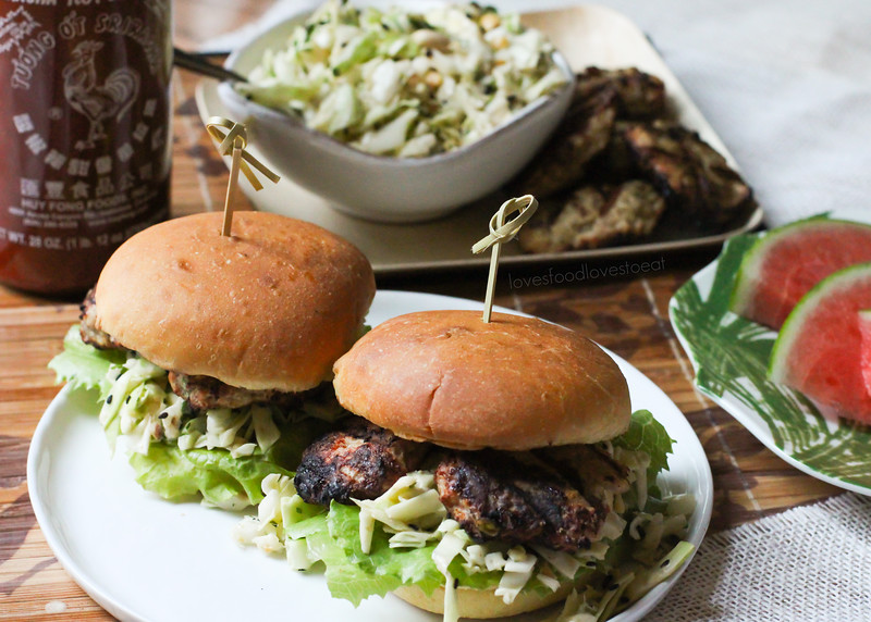 Ginger Lime Turkey Sliders with Peanut Slaw // Loves Food, Loves to Eat
