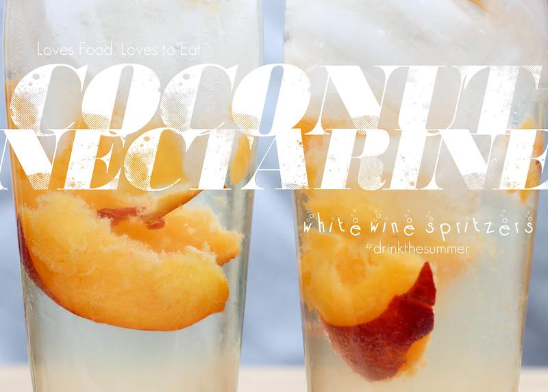 Coconut Nectarine White Wine Spritzers // Loves Food, Loves to Eat #drinkthesummer